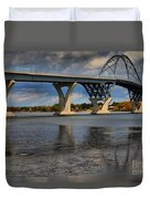 Lake Champlain Tied Arch Bridge Duvet Cover