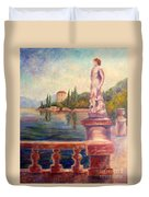 Lake Como View Duvet Cover