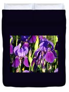 Lake Country Irises Duvet Cover