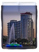 Lake Eola Water Fountain  Duvet Cover