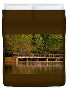 Lake Forest Bridge Duvet Cover