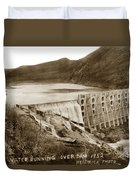 Lake Hodges And Dam San Diego County California  1952 Duvet Cover