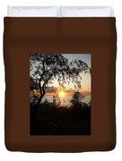 Lake Huron Setting Sun Duvet Cover