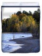 Lake Huron Shoreline In The Fall  Duvet Cover