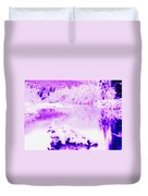 Lake And Ice Duvet Cover