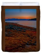 Lake Jocassee Sunrise Duvet Cover