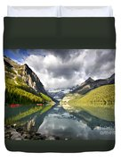 Lake Louise Banff National Park Duvet Cover