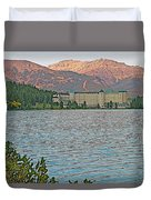 Lake Louise Chateau At Sunset In Banff Np-alberta Duvet Cover