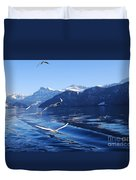 Lake Lucerne Seagulls Duvet Cover