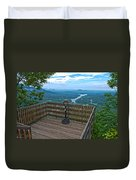 Lake Lure Overlook Duvet Cover