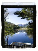 Lake Matheson Duvet Cover