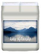 Lake Mcdonald Duvet Cover