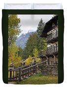 Lake Mcdonald Lodge In Glacier National Park Duvet Cover