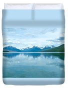 Lake Mcdonald Reflection In Glacier  National Park-montana Duvet Cover