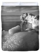 Lake Michigan Ice X Duvet Cover