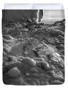 Lake Michigan Ice Xii Duvet Cover