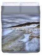 Lake Michigan Shelf Ice Duvet Cover