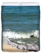 Lake Michigan Shore Duvet Cover