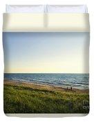 Lake Michigan Shoreline 01 Duvet Cover
