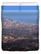 Lake Michigan Shoreline - Downtown Milwaukee  Duvet Cover