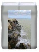 Lake Michigan Splash Duvet Cover