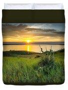 Lake Oahe Sunset Duvet Cover