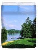 Lake On A Golf Course, Legend Course Duvet Cover