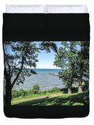 Lake Ontario At Webster Park Duvet Cover
