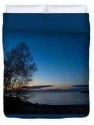 Lake Ontario Blue Hour Duvet Cover