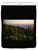 140701a-042 Lake Pend Oreille From The Cabinets Duvet Cover