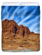 Lake Powell Rocks Duvet Cover by Ayse Deniz