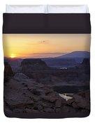 Lake Powell Sunrise  Duvet Cover