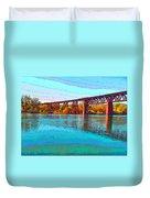 Lake Redding Ca Digital Painting Duvet Cover