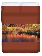 Lake Reflection In Fall 2 Duvet Cover