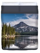 Lake Reflection Duvet Cover by Robert Bales
