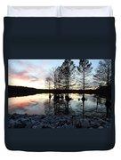Lake Reflections At Sunset Duvet Cover