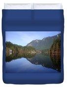 Buntzen Lake, Bc Reflections Duvet Cover