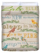 Lake Rules With Birds-c Duvet Cover