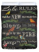 Lake Rules With Birds-d Duvet Cover