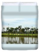 Lake Sand Traps Palm Trees And Golf Course Singapore Duvet Cover