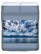 Lake Santeetlah In Great Smoky Mountains Nc Duvet Cover