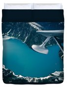 Lake Seen From A Seaplane Duvet Cover
