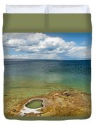 Lake Shore Geyser In West Thumb Geyser Basin Duvet Cover