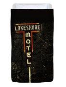 Lake Shore Motel Duvet Cover