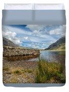 Lake Stone Wall Duvet Cover