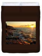 Lake Superior Dawn Duvet Cover