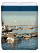 View Of The Harbor Duvet Cover