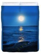 Lake Superior Moonrise Duvet Cover