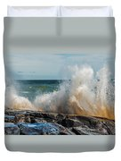 Lake Superior Waves Duvet Cover