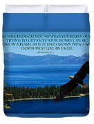 Lake Tahoe Eagle Proverbs Duvet Cover
